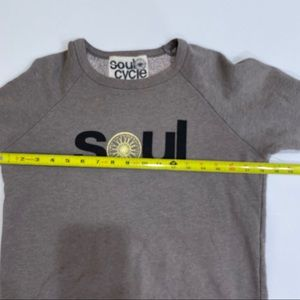 soulcycle Tops - SoulCycle Gray Graphic Sweatshirt Size Small